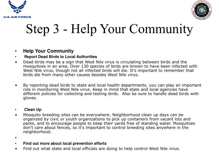 Step 3 - Help Your Community