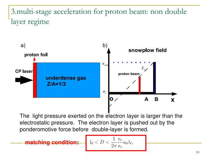 3.multi-stage acceleration for proton beam: non double layer regime