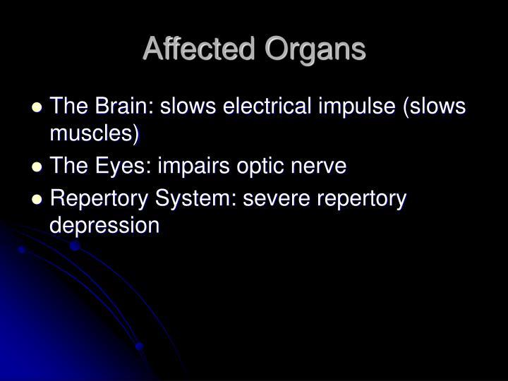 Affected Organs