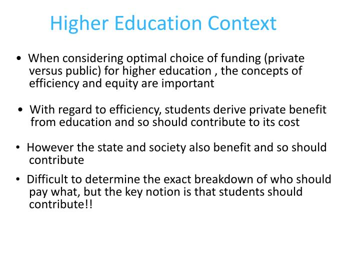 Higher Education Context