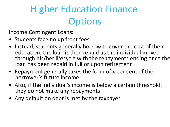 Higher Education Finance