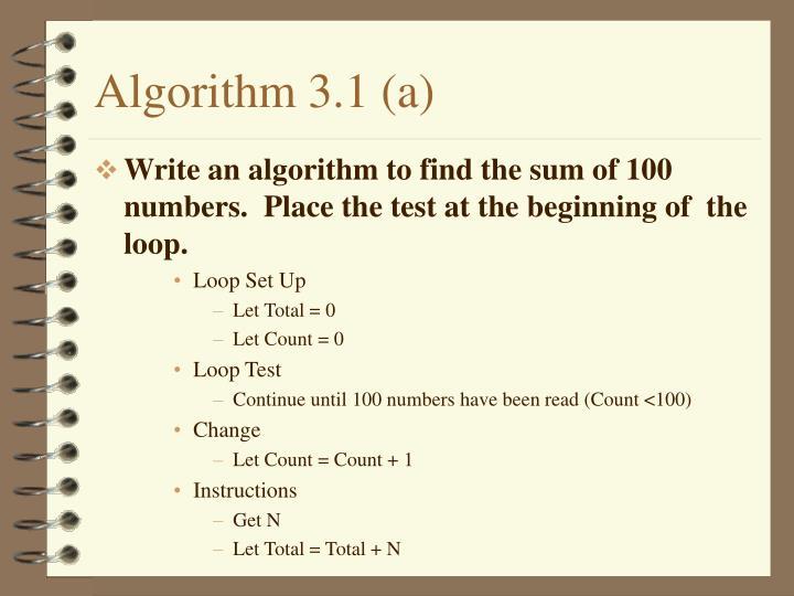 Algorithm 3.1 (a)