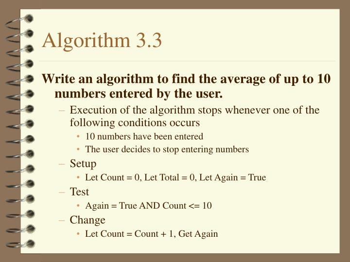 Algorithm 3.3