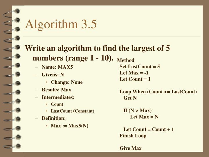 Algorithm 3.5