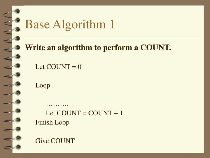 Base Algorithm 1