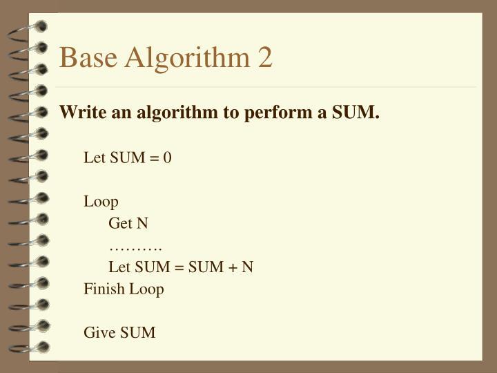 Base Algorithm 2
