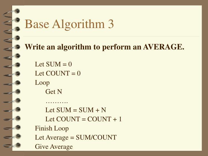 Base Algorithm 3