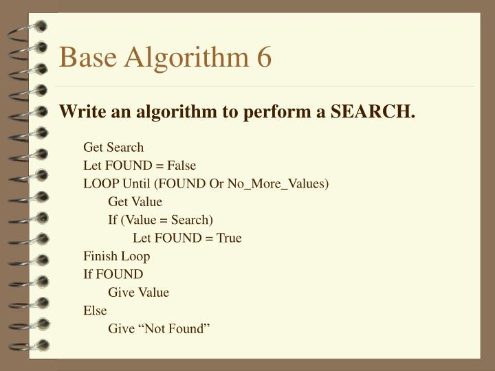Base Algorithm 6
