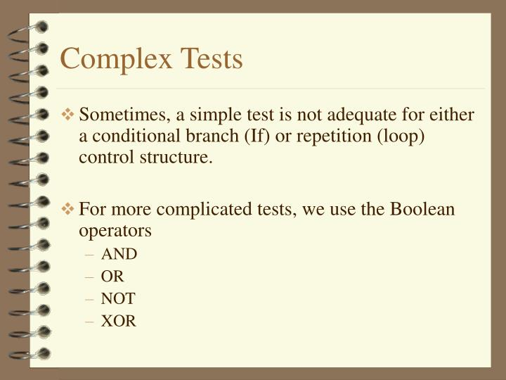 Complex Tests