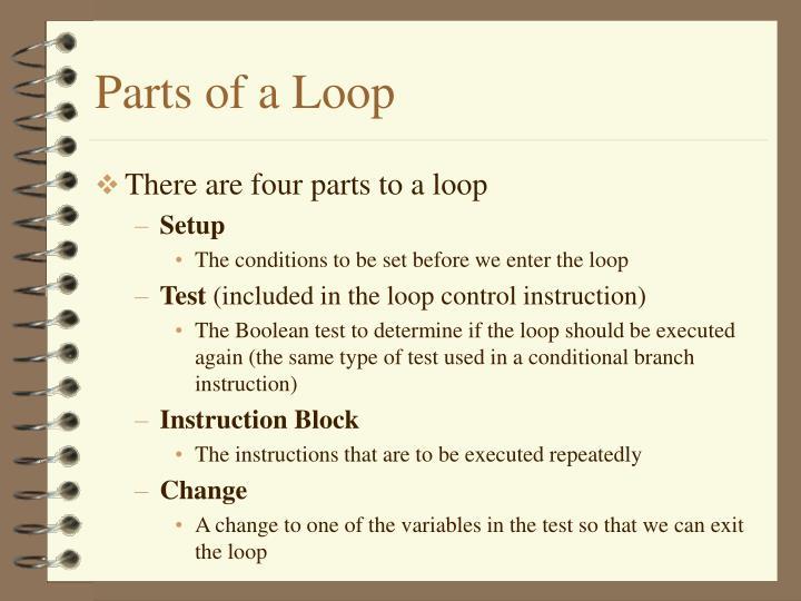 Parts of a Loop