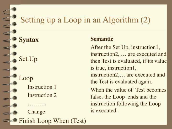 Setting up a Loop in an Algorithm (2)