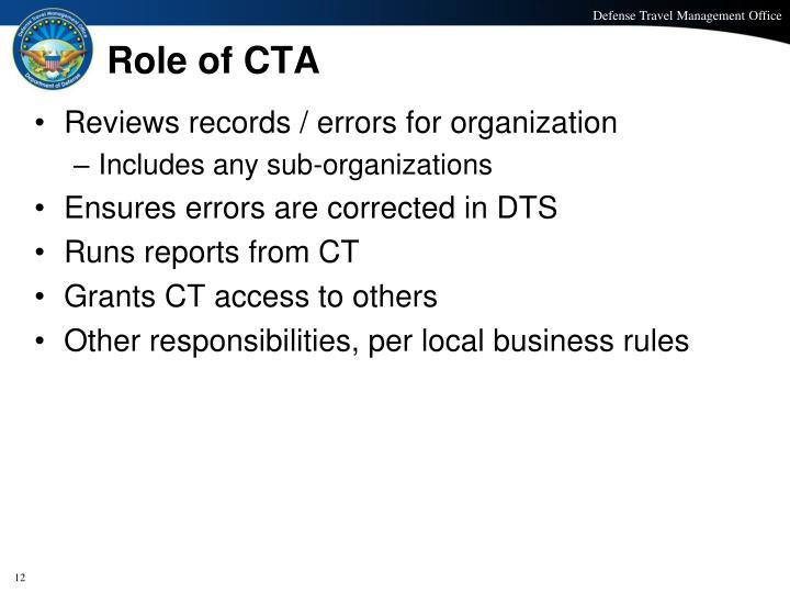 Role of CTA