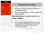 problems for atari