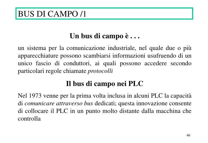 BUS DI CAMPO /1