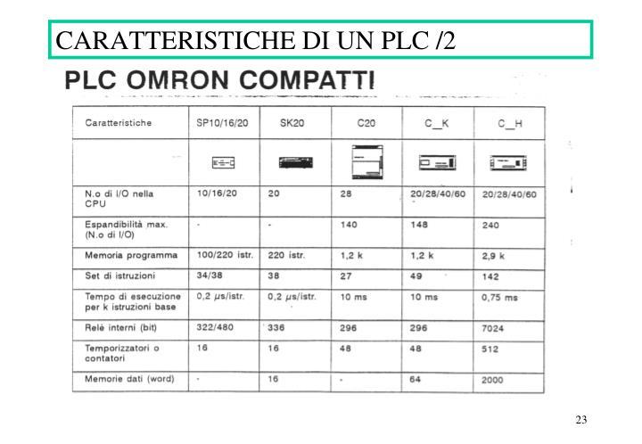 CARATTERISTICHE DI UN PLC /2