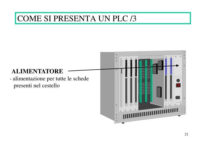 COME SI PRESENTA UN PLC /3