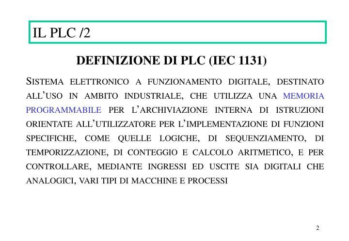 IL PLC /2