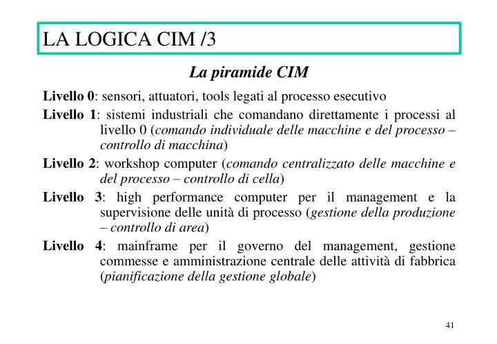 LA LOGICA CIM /3