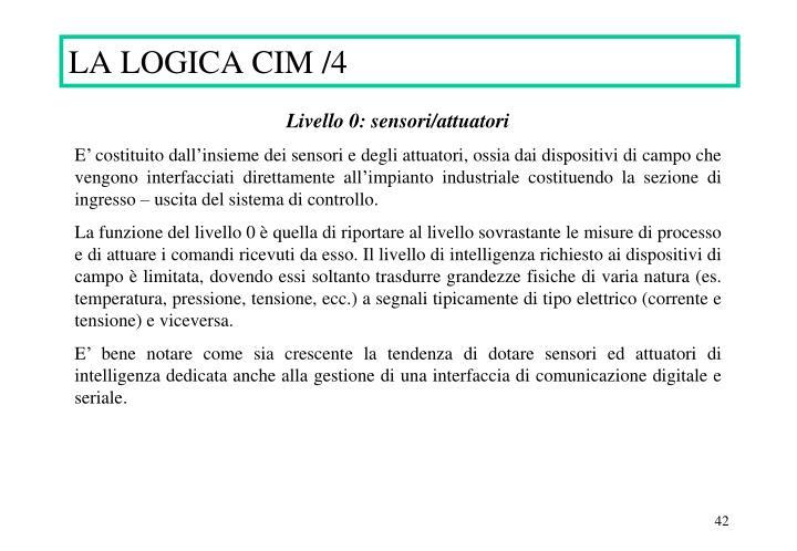 LA LOGICA CIM /4
