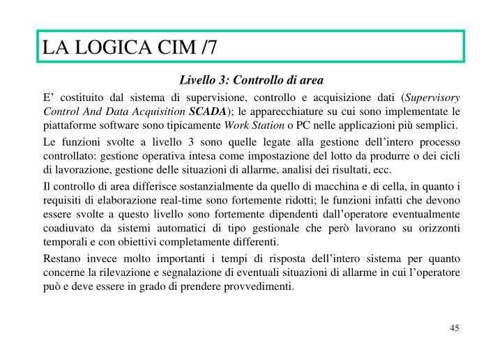 LA LOGICA CIM /7