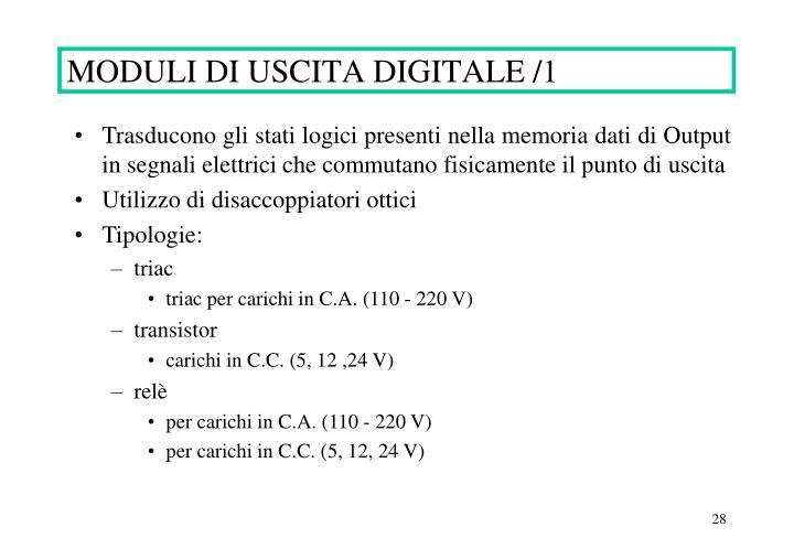 MODULI DI USCITA DIGITALE /1