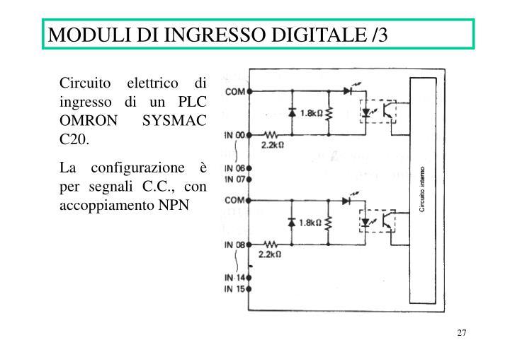 MODULI DI INGRESSO DIGITALE /3