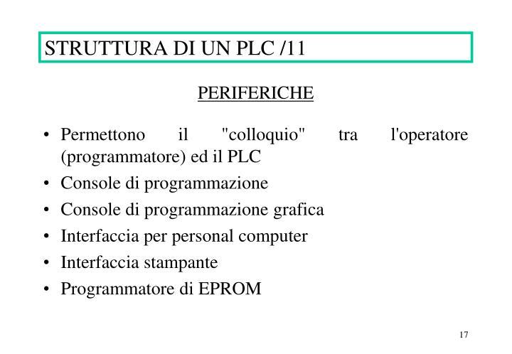 STRUTTURA DI UN PLC /11