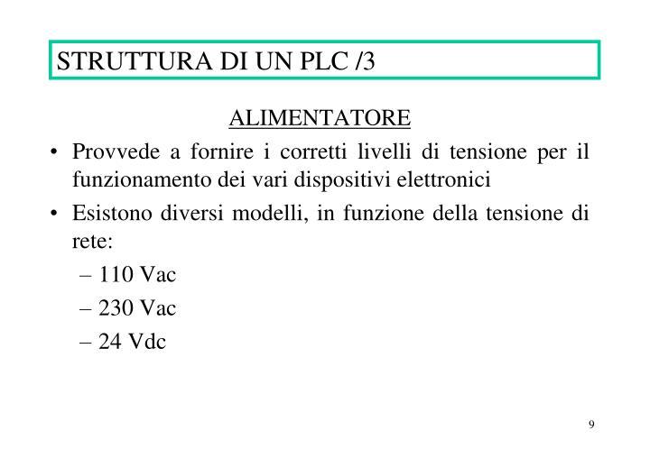 STRUTTURA DI UN PLC /3