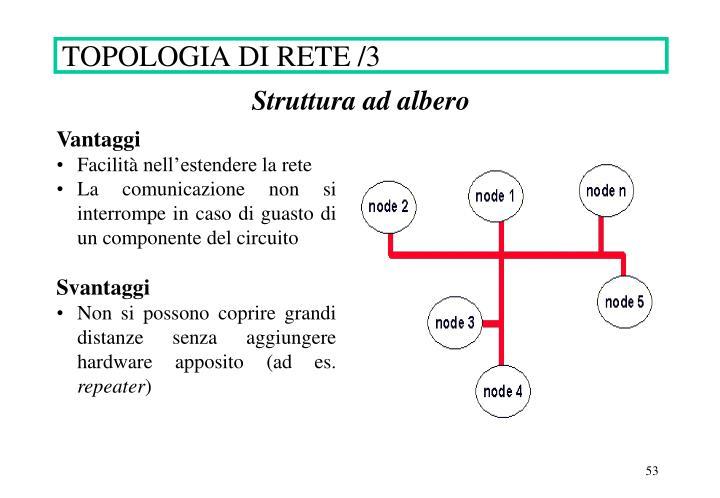 TOPOLOGIA DI RETE /3