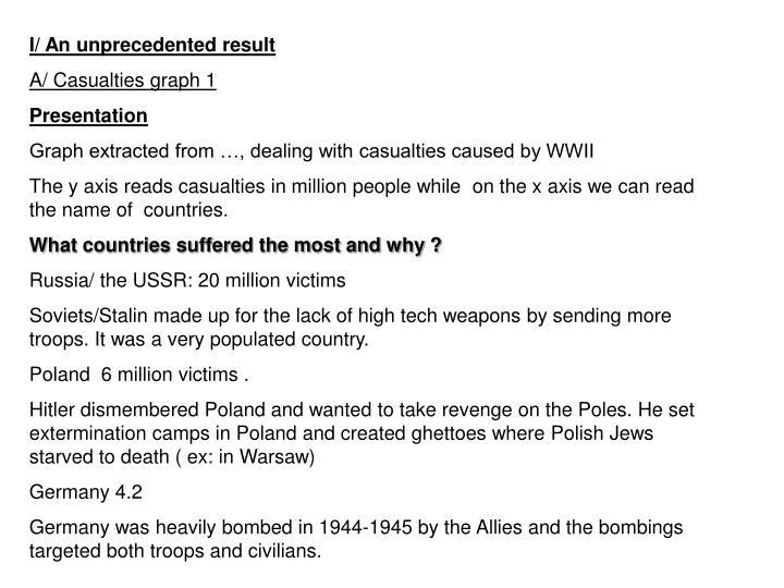 I/ An unprecedented result