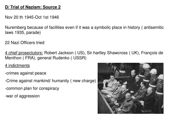 D/ Trial of Nazism: Source 2