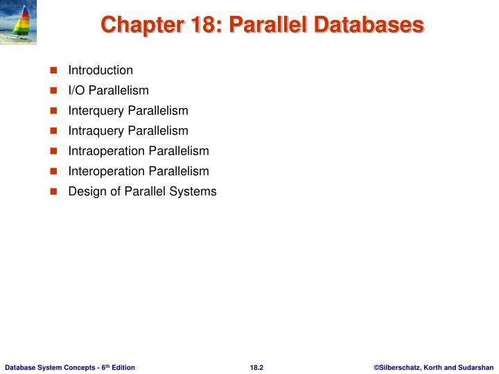 Chapter 18 parallel databases1