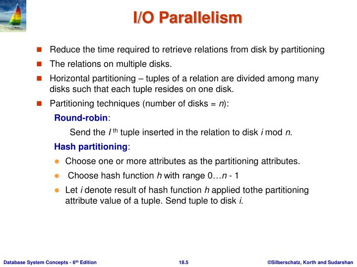 Reduce the time required to retrieve relations from disk by partitioning
