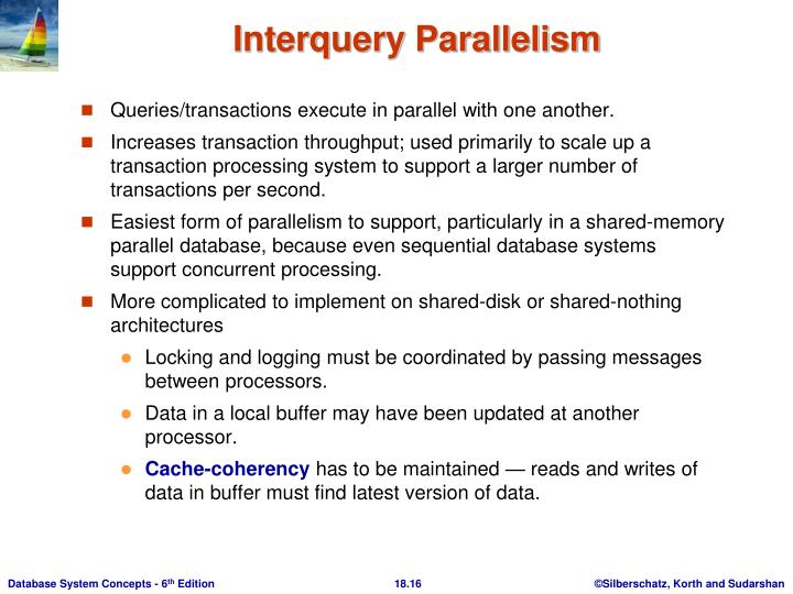 Queries/transactions execute in parallel with one another.