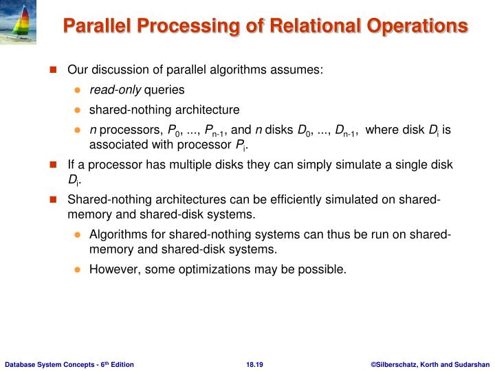 Our discussion of parallel algorithms assumes: