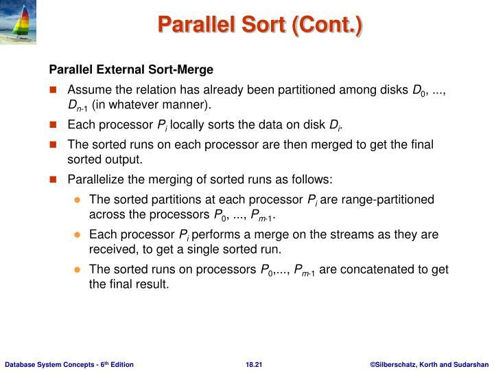 Parallel External Sort-Merge