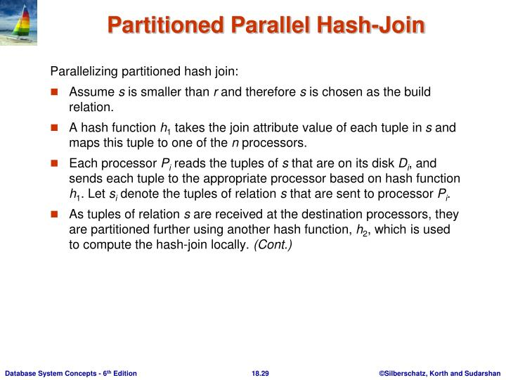 Parallelizing partitioned hash join: