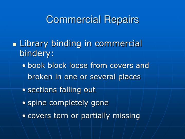 Commercial Repairs
