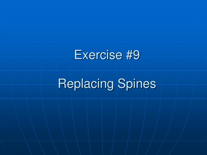 Exercise #9