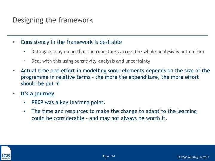 Designing the framework