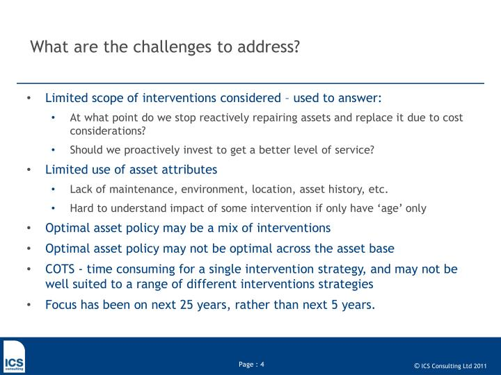 What are the challenges to address?