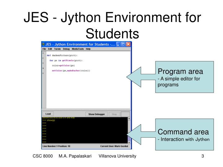 Jes jython environment for students