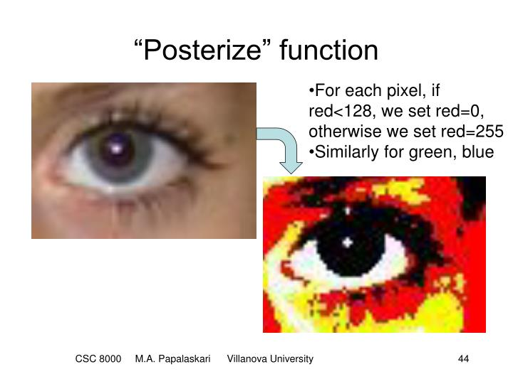 """Posterize"" function"