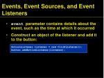 events event sources and event listeners3