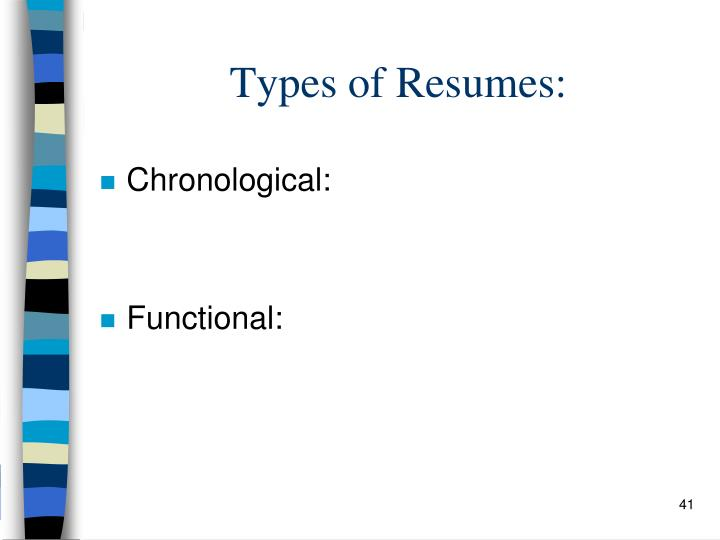 Types of Resumes: