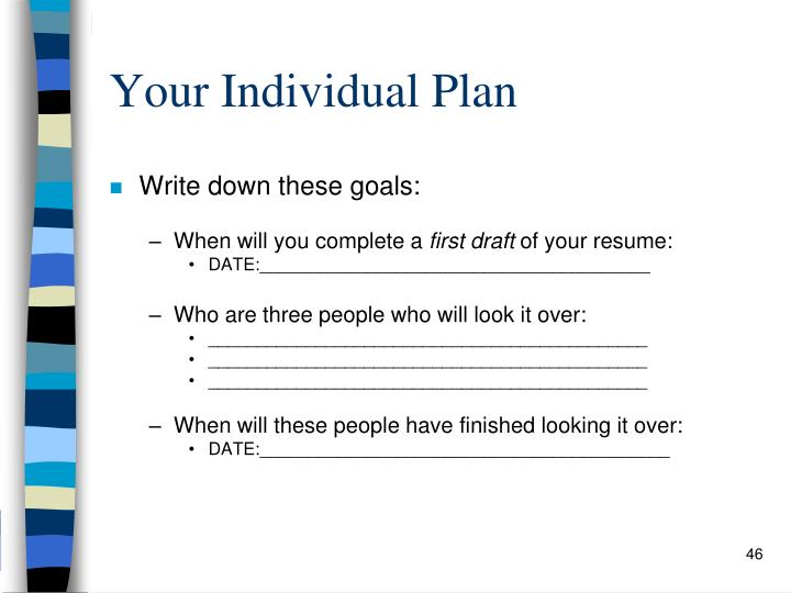 Your Individual Plan