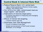 central bank interest rate risk
