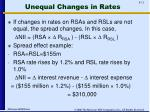 unequal changes in rates