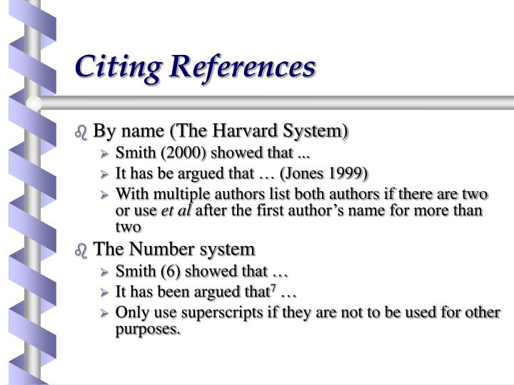 Citing References