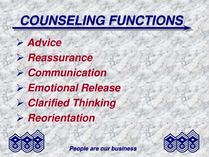 COUNSELING FUNCTIONS